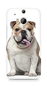 Amez designer printed 3d premium high quality back case cover for HTC One M8 (Pug Stupid)