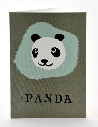 Petra Boase Paper Balloon Greeting Card - Panda front-845640