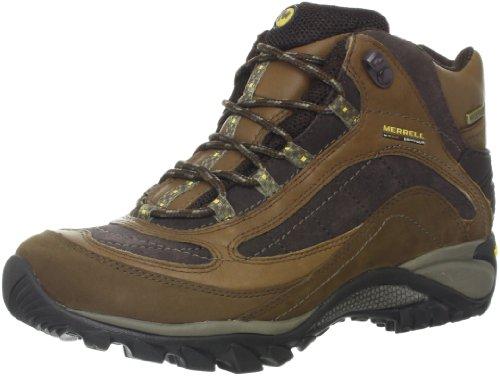 Merrell Women's Siren Waterproof Mid Leather Boot,Brown,8 M US
