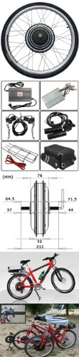 36v 500w 26 Inch Rear Wheel Electric Bicycle Motor Conversion Kit