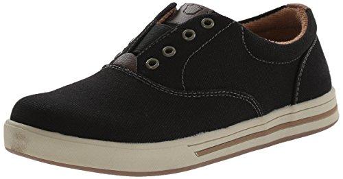 Florsheim Kids Flipside OX JR Slip-On Sneaker (Little Kid/Big Kid), Black, 12 M US Little Kid