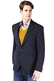 Autograph Pure Wool 2 Button Textured Blazer