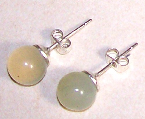 Sunsara - Ear Studs Serpentine 8 mm, nickel-free, silver plated