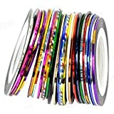365daybuy 30Pcs Mixed Colors Rolls Striping Tape Line Nail Art Tips Decoration Sticker