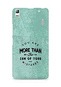 AMEZ you are more than the sum of your mistakes Back Cover For Lenovo K3 Note