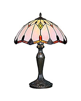 Lampsbuyer Large Size Tiffany Style Jeweled Geometric