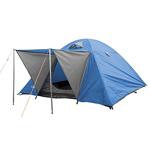 "® Campingzelt, Igluzelt, Kuppelzelt ""Woodland II"" oder ""Woodland III"" für 2,3,4 Personen (4 Personen Blau)"