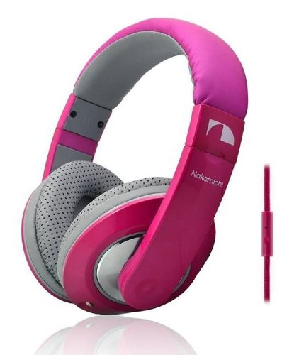 Nakamichi Nk780M Metallic Edition, Over The Ear Fashion Headphones (Pink)