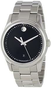 Movado Men's 0606481 Movado Sportivo Stainless-Steel Black Museum Dial Bracelet Watch