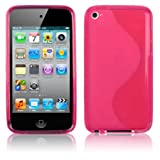 Premium – Apple Ipod Touch 4th Gen TPU Streamline Transparent Hot Pink – Faceplate – Case – Snap On – Perfect Fit Guaranteed