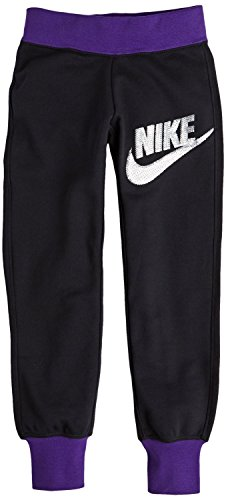 Nike Big Girls' (7-16) Skinny Cuff Jogger Sweatpants-Black-Small