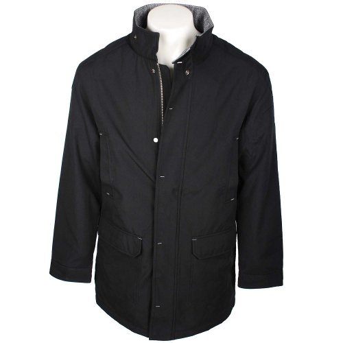 Thomas Brooks Oxford Collection Men's Black Funnel Neck Jacket in Size Small