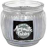 First Row Aromatic Fables 7oz Euphoria Fragrance Soy Wax Decorative Gifting Voilet Color Round Glass Candle
