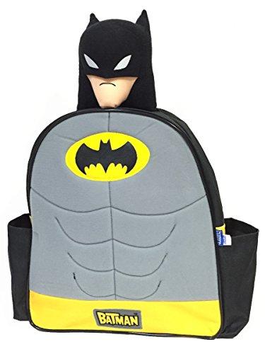 【ノーブランド品】海外リミテッド【DCコミック】 BATMAN バットマン JUSTICE LEAGUE ジャスティスリーグ 子供用 ぬいぐるみヘッド付き リュック バックパック デイパック 【34×30×12cm】  KIDS用 海外限定 DC COMICS  KIDS-BKP-BATMAN2015