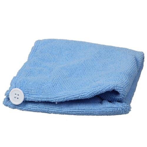 EOZY Serviette à Cheveux Bonnet Douche en Micro Fibre Doux 60*20 CM Bleu