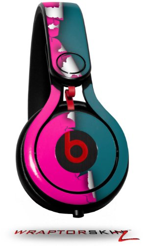 Ripped Colors Hot Pink Seafoam Green Decal Style Skin (Fits Genuine Beats Mixr Headphones - Headphones Not Included)