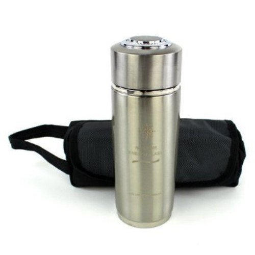 Silver Alkaline Energy Flask Ionizer Water Bottle Cup Booster With Free Case New