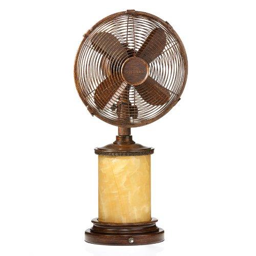 Deco Breeze DBF1072 Table/Lamp Fan, Marble, 10-Inch