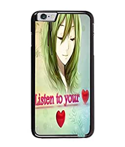 Fuson Cute Girl Back Case Cover for APPLE IPHONE 6 - D3856