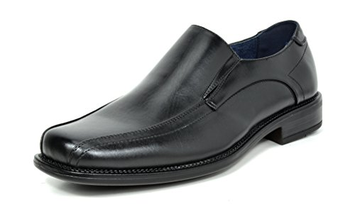 Bruno MARC STATE-01 Men's Formal Loafers Stretch Oxfords Slip On Leather Lining Square Tip Modern Dress Shoes BLACK SIZE 8.5 (Leather Dress Shoes Men compare prices)