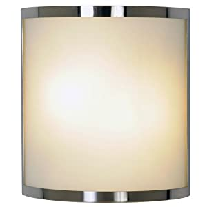 AF Lighting 617604 10-Inch W by 11-Inch H by 4-Inch E Contemporary Lighting Collection Wall Sconce, Brushed Nickel