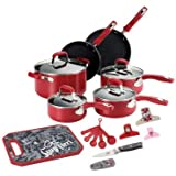 Guy Fieri 21-pc. Nonstick Cookware Set, Red