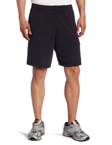 Champion Men's Double Dry Cotton Short, Black, Large