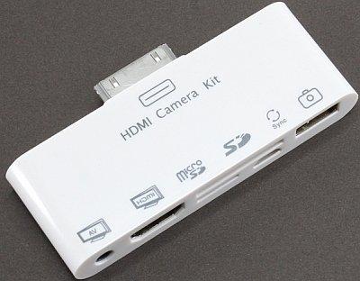 iPad/iPhone/iPod touchに HDMI接続 AV接続 microSD・SD接続 PCSync デジカメ接続 キーボード接続を可能にする HDMI 6in1 コネクションキット