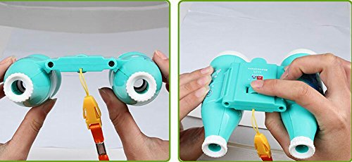 Kids Toy Binocular Telescope Outdoor Science Explore Educational Toys, Blue