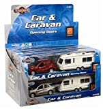 Teamsters Car and caravan set. Scale 1:43