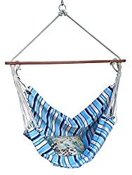 Hangit Canvas Hammock Swing Fabric Chair with Hardware | Ideal Hammocks & Swings for garden