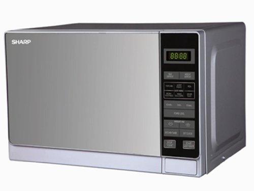 Sharp R-22AO(SM)V 20-Liter Stainless Steel Microwave Oven, 220-volt