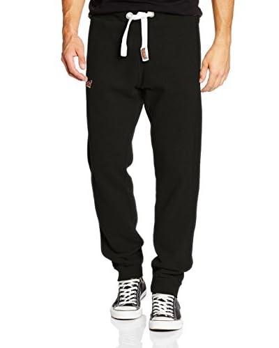 Superdry Sweatpants Orange Label Slim-Jogger schwarz