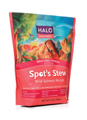 Stew Natural Dry Dog Food, Adult Dog, Wild Salmon Recipe, 4-Pound Bag