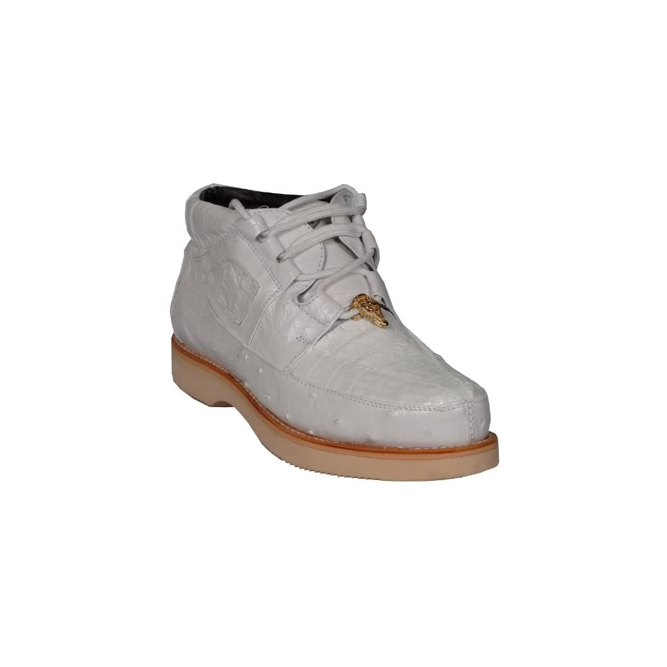 New WHITE Crocodile Leather Ostrich Caiman Alligator Mens Ankle High BOOTS Casual Handmade 4136