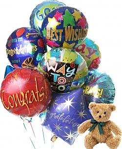 Congratulations Balloons & Bear-12 Mylar