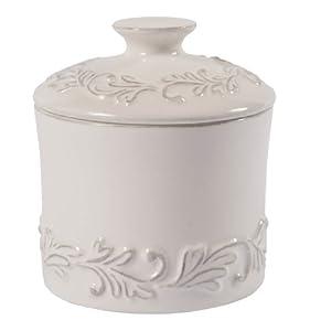L Tremain Poterie de Cuisine Medium Spice Jar, Antique White
