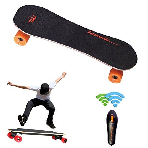Skate Board,Elaco Wireless Remote Control Four Wheels Electric Skateboard Longboard
