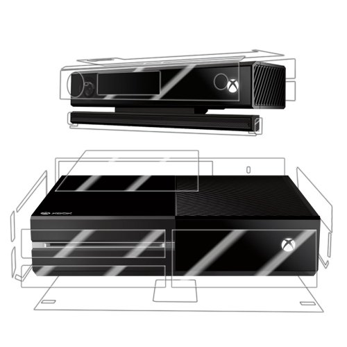 Skinomi® Techskin - Microsoft Xbox One + Kinect Combo - Full Body Skin Protector With Lifetime Replacement Warranty / Front & Back Premium Hd Clear Film / Ultra High Definition Invisible And Anti-Bubble Crystal Shield - Retail Packaging