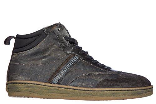 Bikkembergs scarpe sneakers alte uomo in pelle nuove banding 983 vintage grigio EU 44 BKE106244