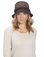 M&S Collection Textured Pull On Hat with Wool