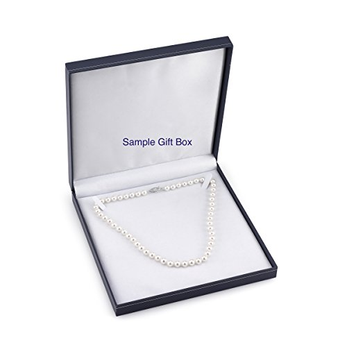 "14K Gold 7-8mm Double Strand White Freshwater Cultured Pearl Necklace, 17-18"" Length"