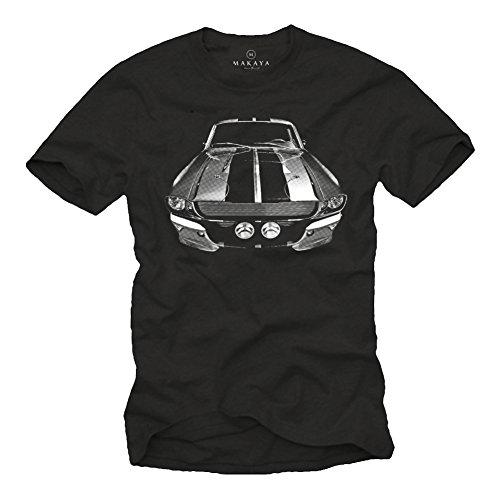 ELEANOR - Maglietta Auto Ford Mustang Uomo Bullitt Steve McQueen Nera L