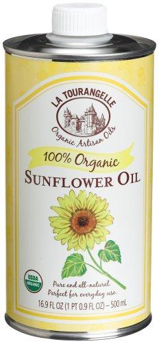 La Tourangelle Organic Sunflower Oil, 16.9-Ounce Tins (Pack of 4)