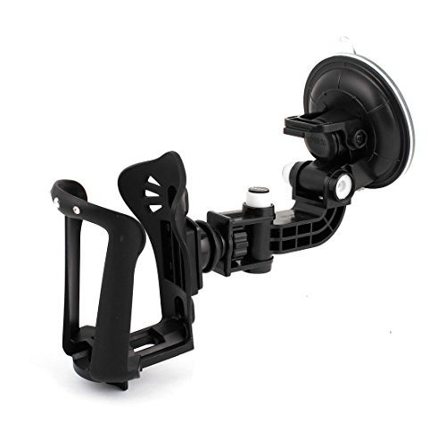 Car Windshield Flexible Suction Cup Mount Black Holder For Cup Bottles