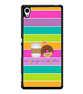Fuson Premium 2D Back Case Cover We go great With blue Background Degined For Sony Xperia Z3+::Sony Xperia Z3 Plus