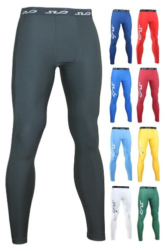 Sub Sports Men's COLD Thermal Compression Baselayer Leggings / Tights - Orange, XX-Large