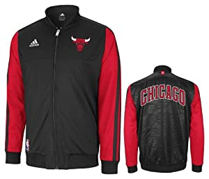Chicago Bulls adidas Home Weekend 2012-2013 Authentic On-Court Jacket - Black by Mitchell & Ness