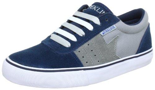 Dekline Archer-Canvas Trainers - Skateboarding Unisex-Adult Blue Blau (navy-grey) Size: 36.5