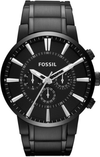 Fossil Black Dial Men's Quartz Watch - FS4778